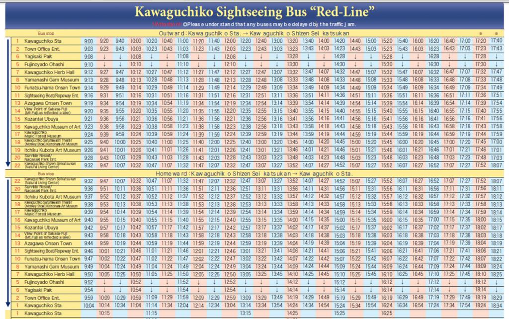 retro bus timetable