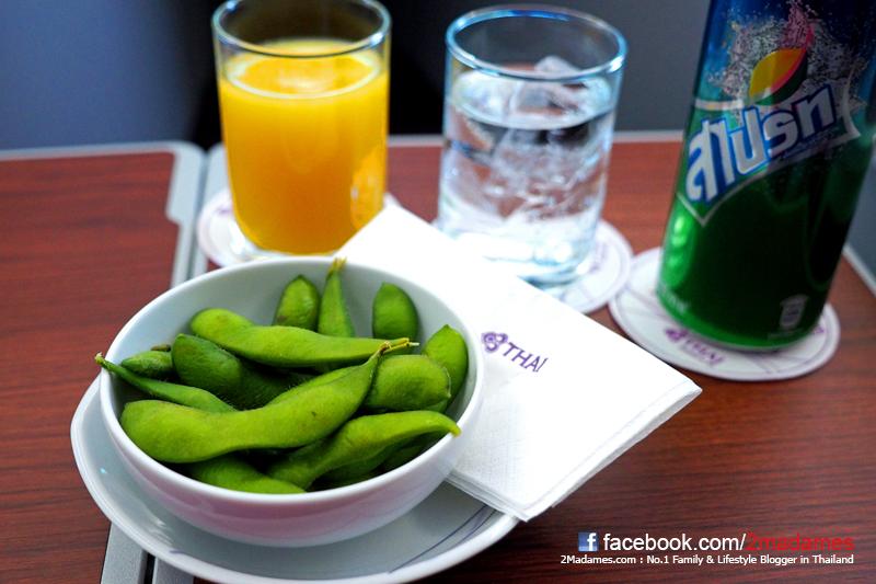 Thai Airways, การบินไทย, Royal Silk Class, Boeing 787 Dreamliner, ชั้นธุรกิจ, Royal Silk Lounge, Business Class, โบอิ้ง 787 ดรีมไลเนอร์, รีวิว, review, pantip, อาหารบนเครื่อง, บินตรงฟุกุโอกะ, Direct Flight Fukuoka