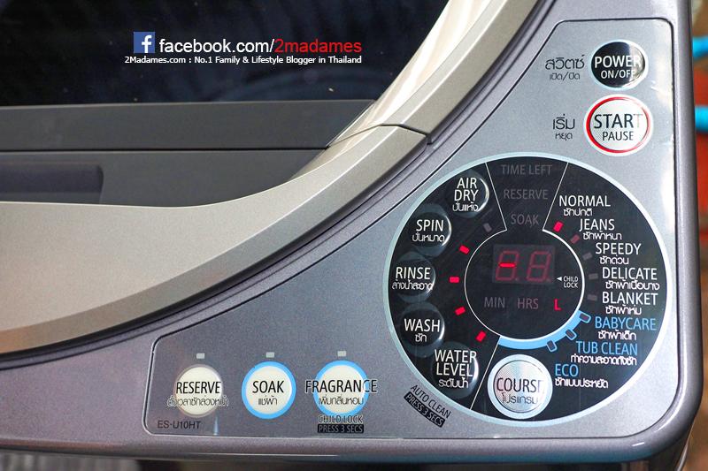 เครื่องซักผ้าชาร์ป,เครื่องซักผ้า Sharp,ฝาบน,ราคา,รีวิว,โปรโมชั่น,ES-U10HT-S,ดีไหม